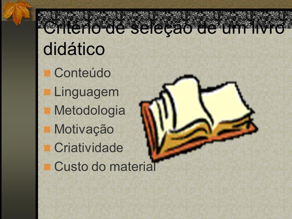 Critério de seleção de um livro didático