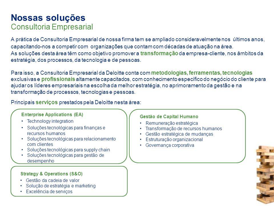 Nossas soluções Consultoria Empresarial