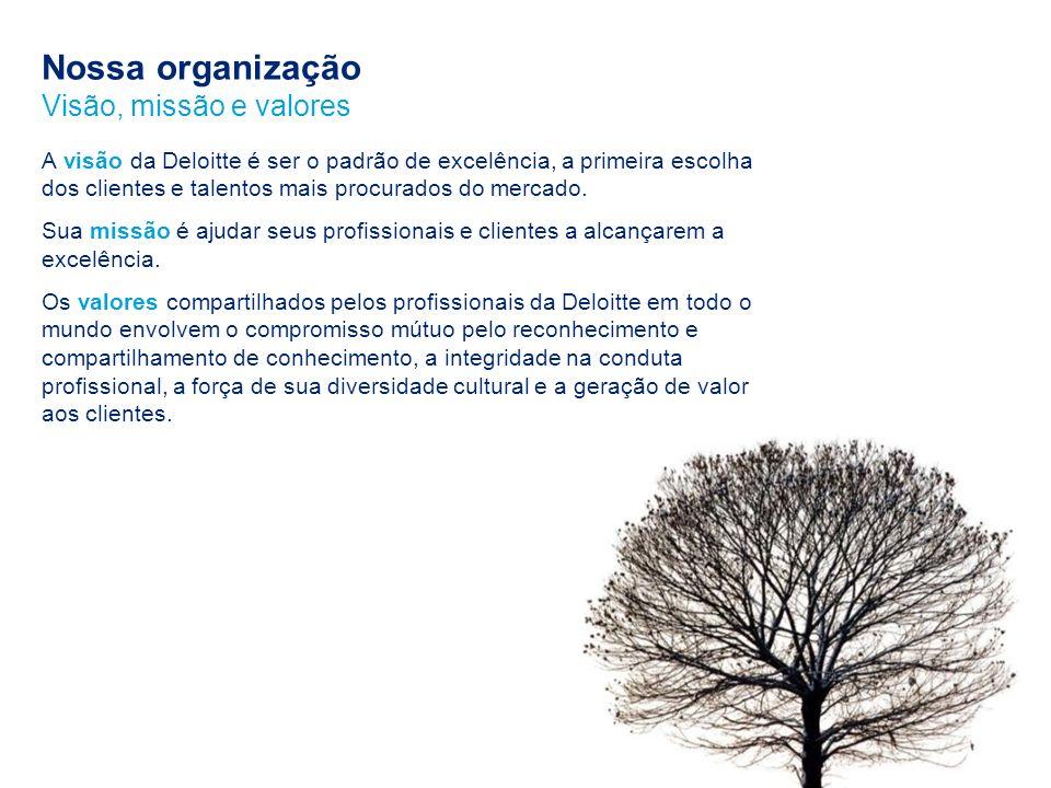 Nossa organização Visão, missão e valores