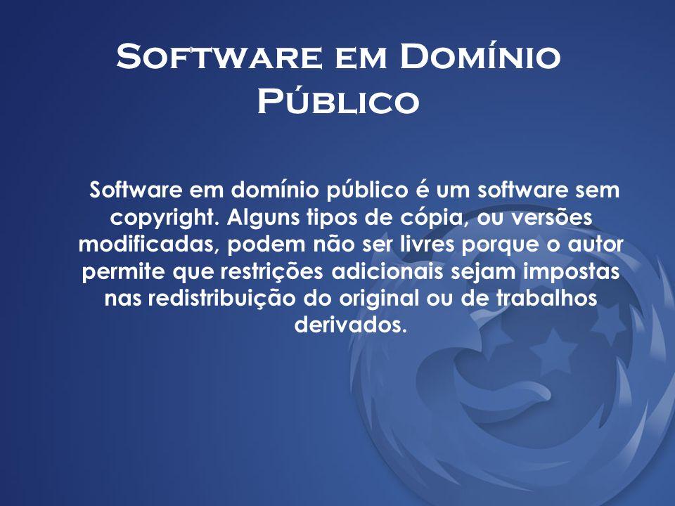 Software em Domínio Público