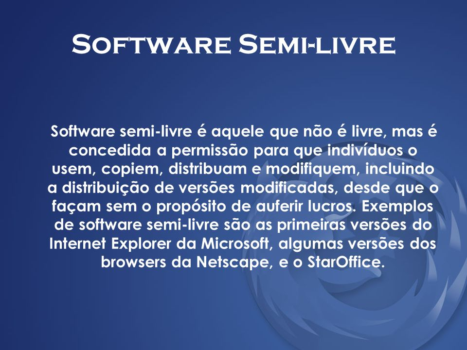 Software Semi-livre