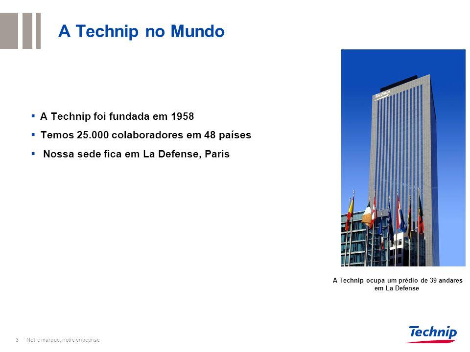 A Technip ocupa um prédio de 39 andares