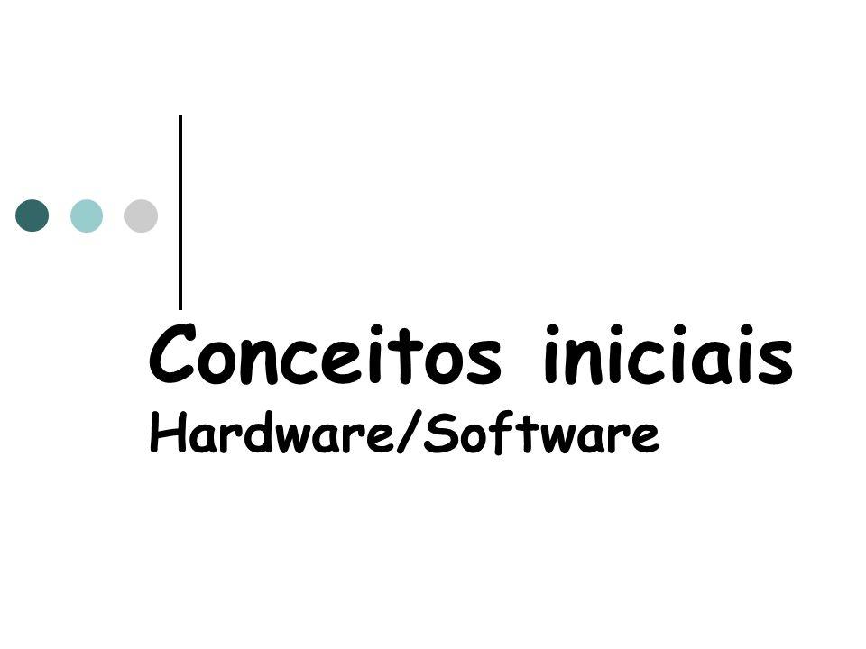 Conceitos iniciais Hardware/Software