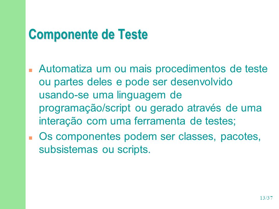 Componente de Teste