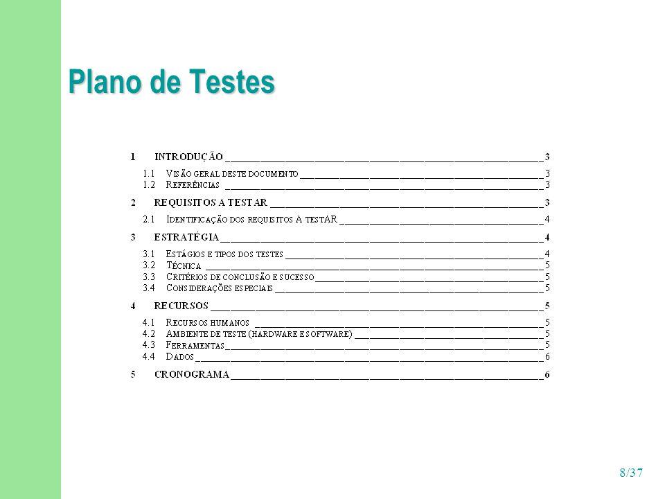 Plano de Testes