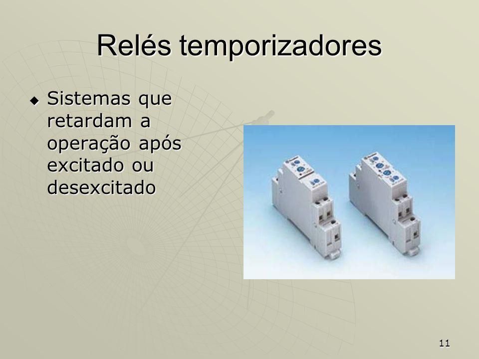 Relés temporizadores Sistemas que retardam a operação após excitado ou desexcitado