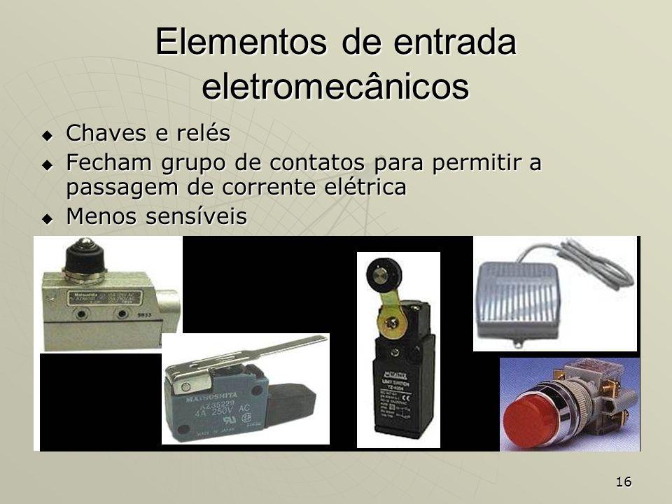Elementos de entrada eletromecânicos