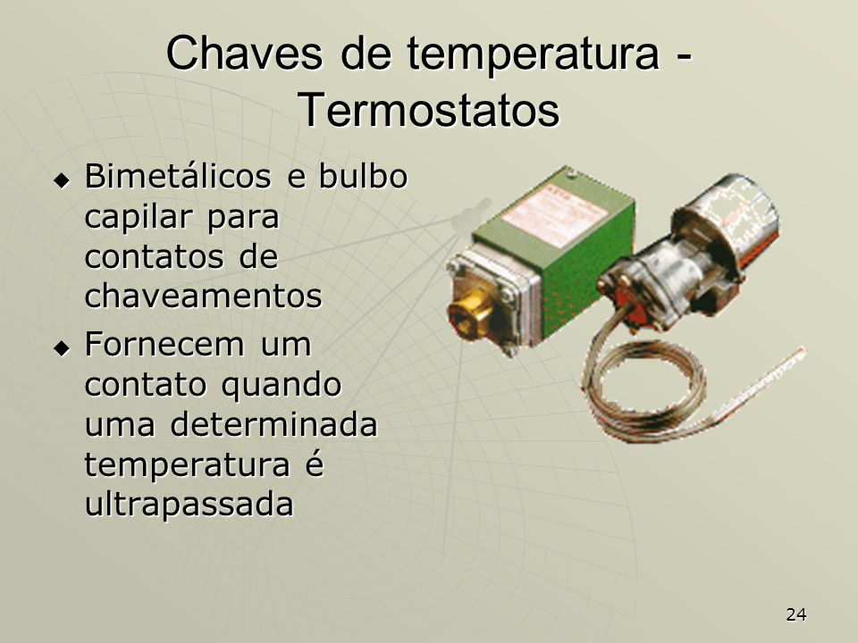Chaves de temperatura - Termostatos