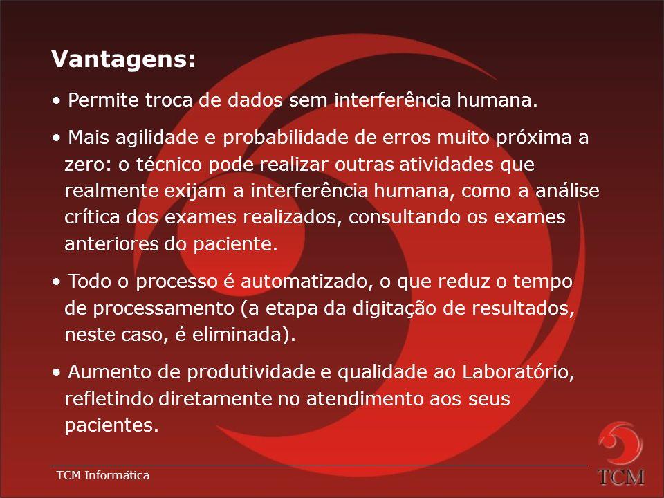 Vantagens: Permite troca de dados sem interferência humana.