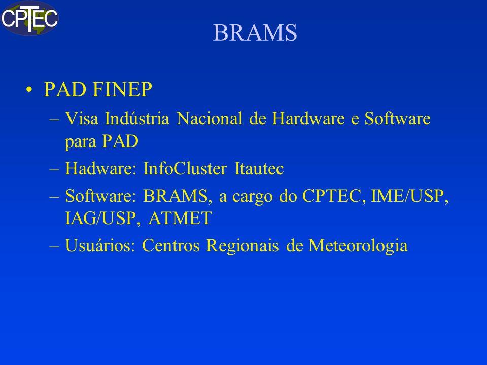 BRAMS PAD FINEP. Visa Indústria Nacional de Hardware e Software para PAD. Hadware: InfoCluster Itautec.