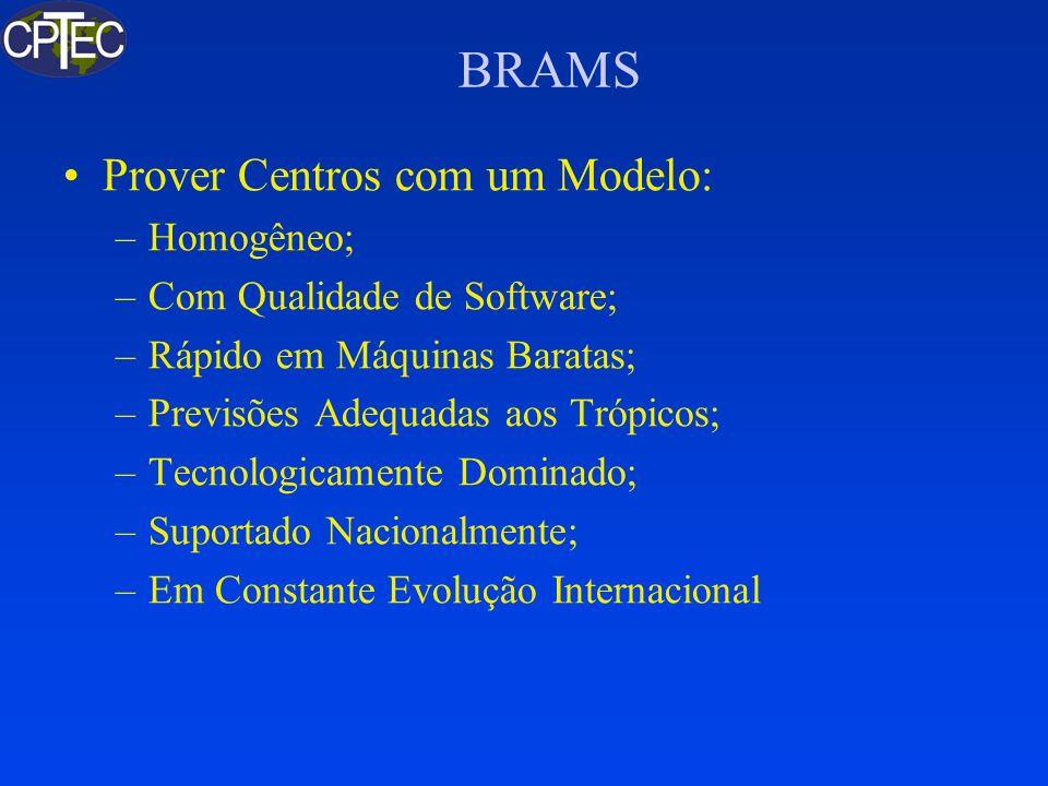BRAMS Prover Centros com um Modelo: Homogêneo;