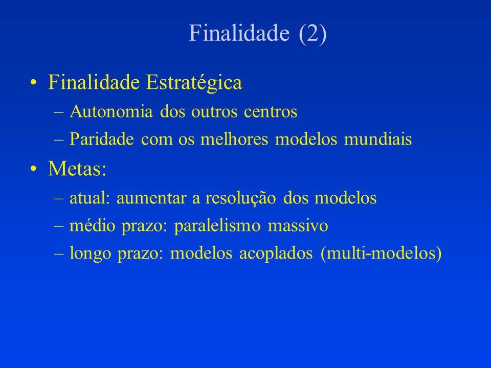 Finalidade (2) Finalidade Estratégica Metas: