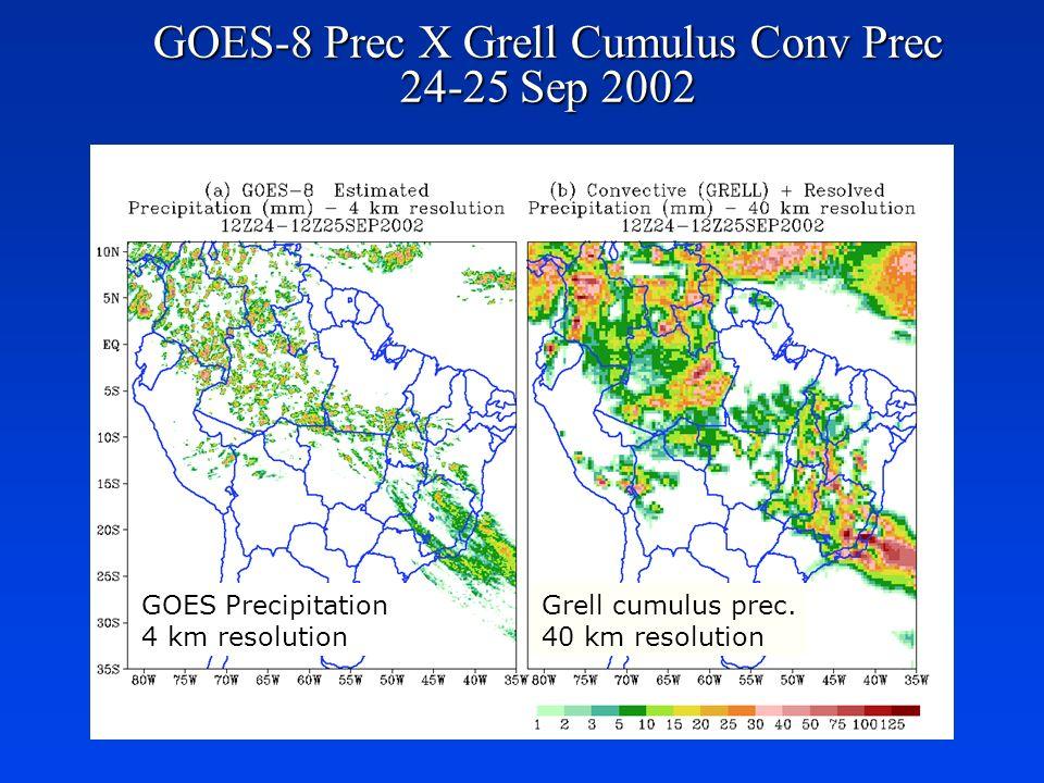 GOES-8 Prec X Grell Cumulus Conv Prec 24-25 Sep 2002