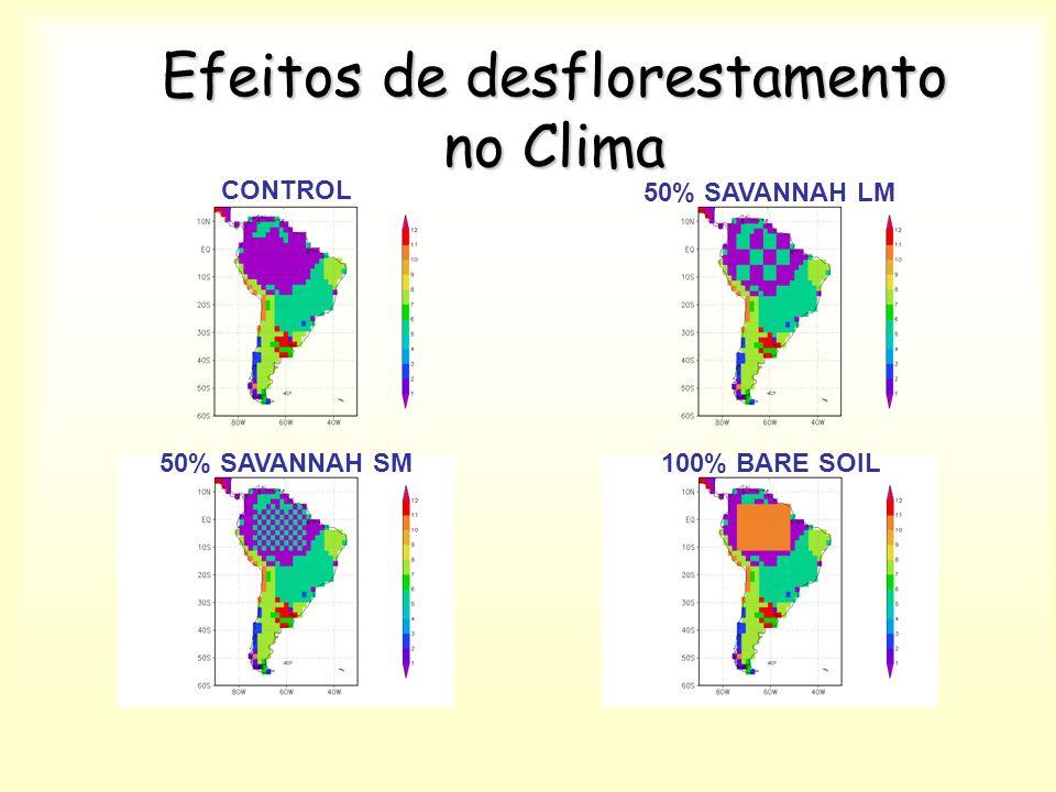 Efeitos de desflorestamento no Clima