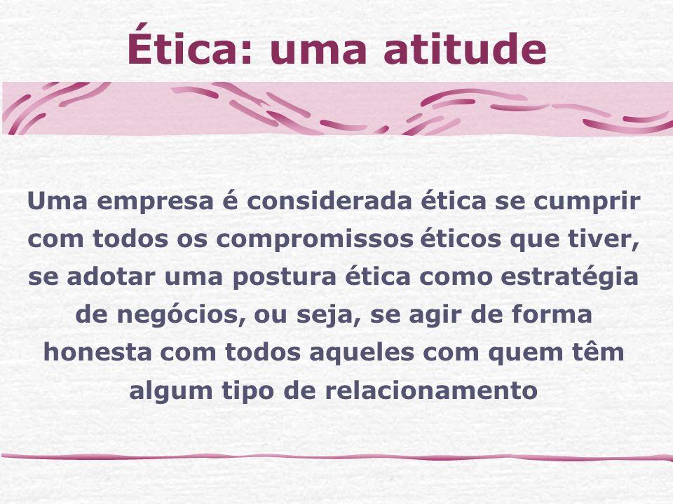 Ética: uma atitude