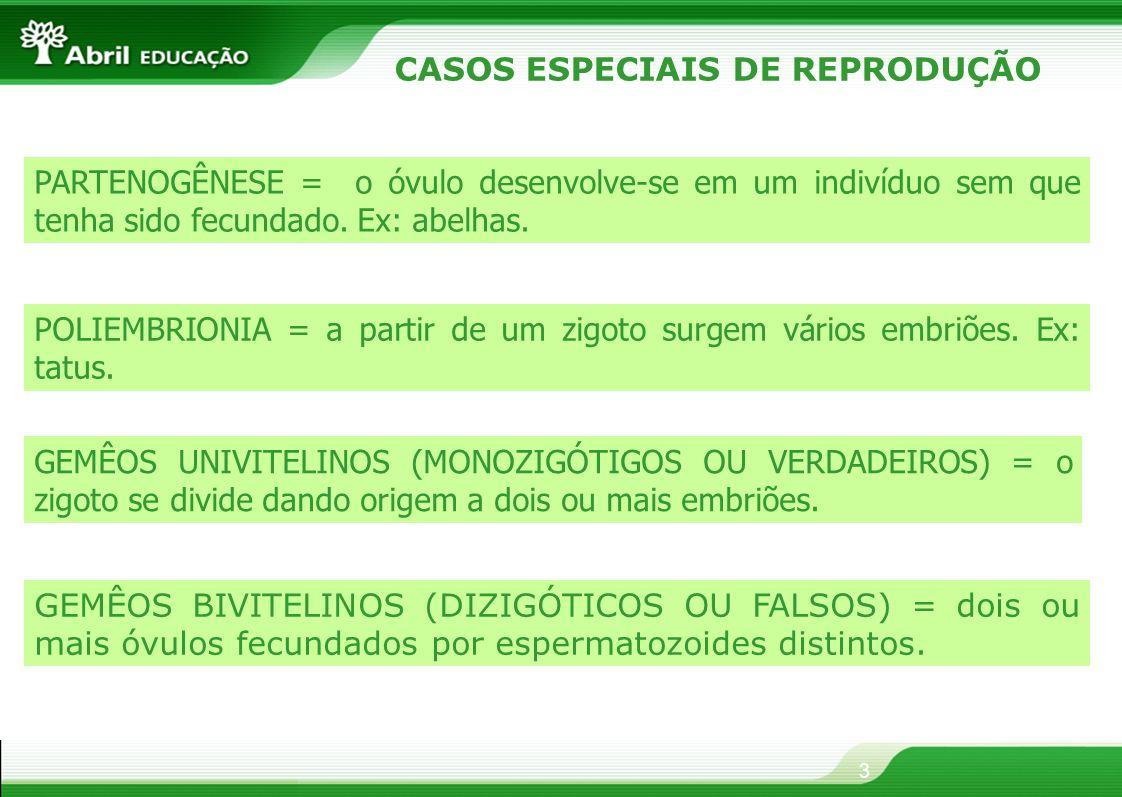 CASOS ESPECIAIS DE REPRODUÇÃO