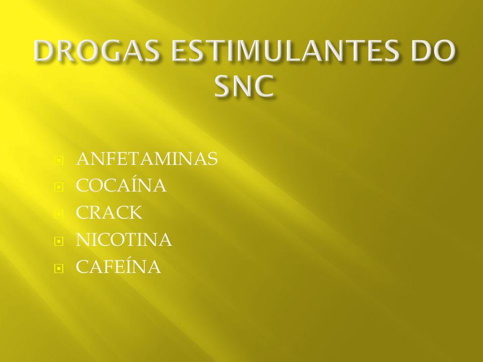 DROGAS ESTIMULANTES DO SNC