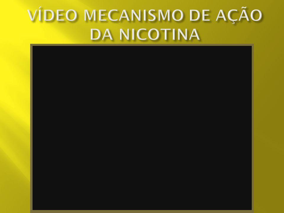VÍDEO MECANISMO DE AÇÃO DA NICOTINA