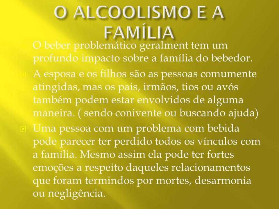 O ALCOOLISMO E A FAMÍLIA