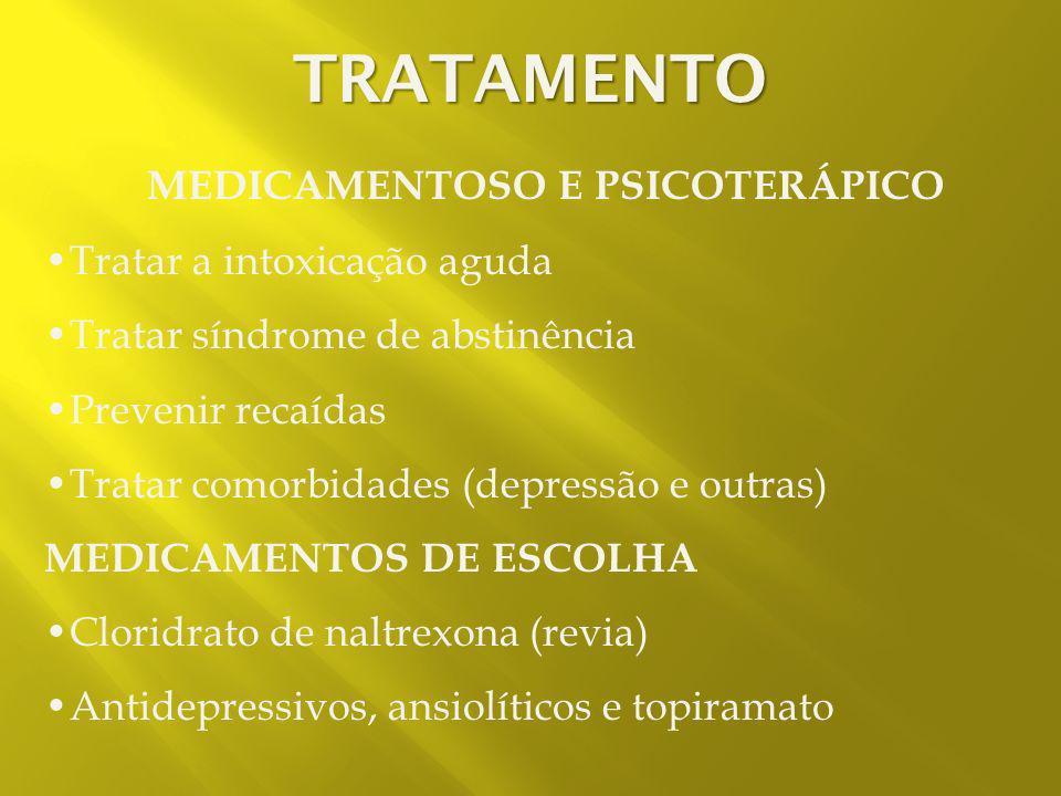 MEDICAMENTOSO E PSICOTERÁPICO
