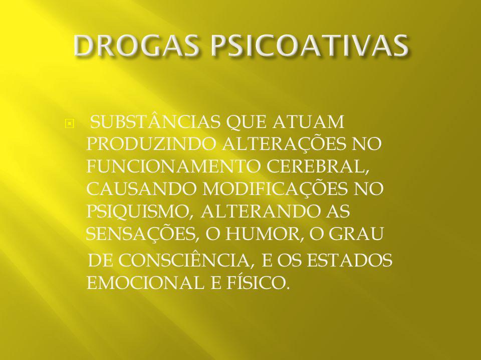 DROGAS PSICOATIVAS