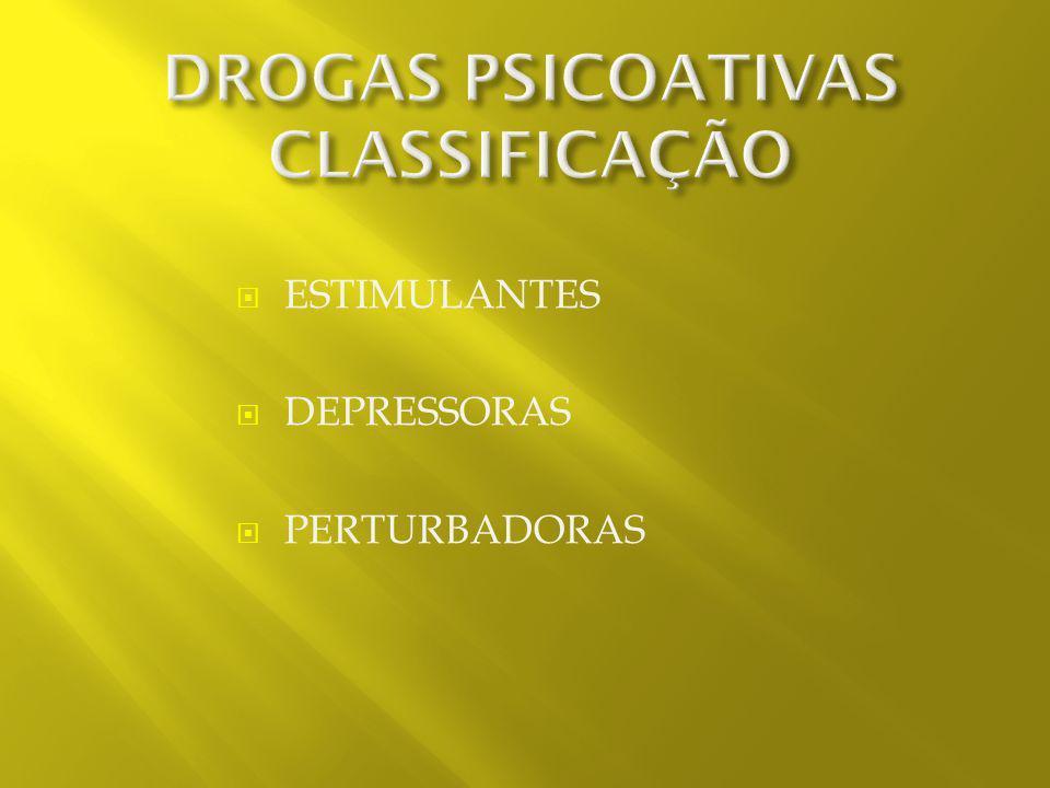 DROGAS PSICOATIVAS CLASSIFICAÇÃO