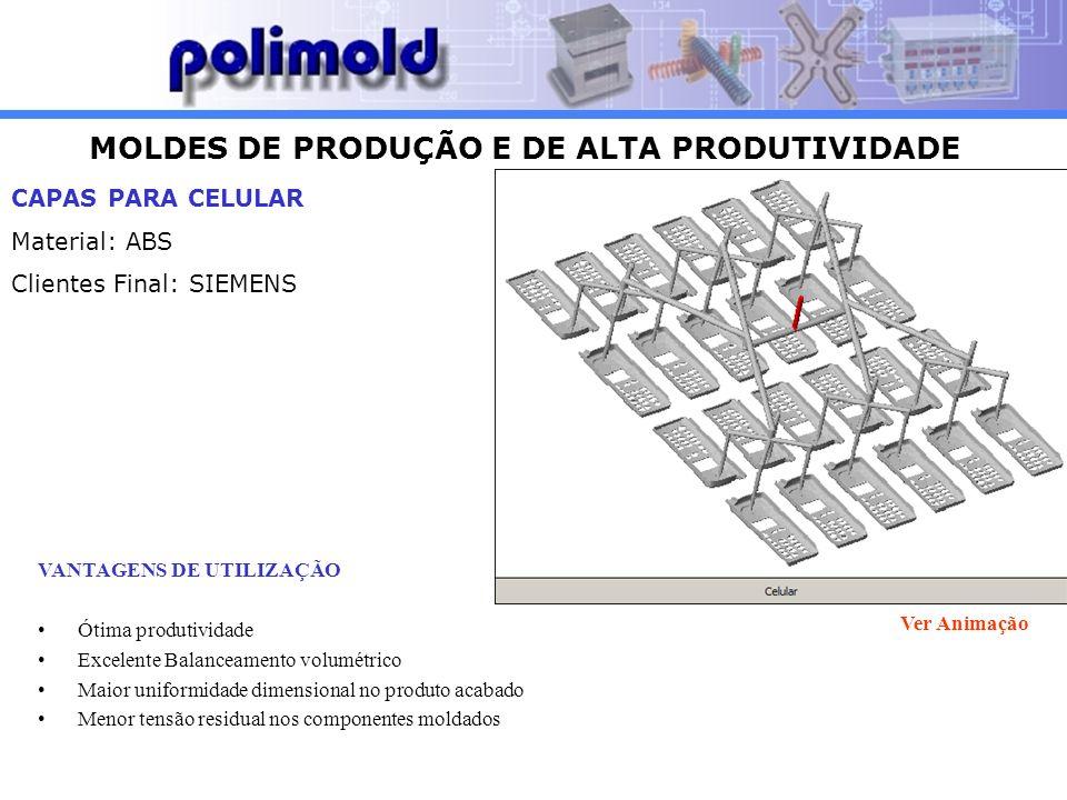 MOLDES DE PRODUÇÃO E DE ALTA PRODUTIVIDADE