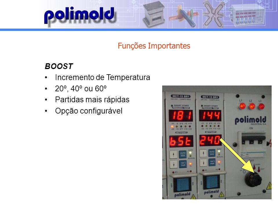Funções Importantes BOOST. Incremento de Temperatura.