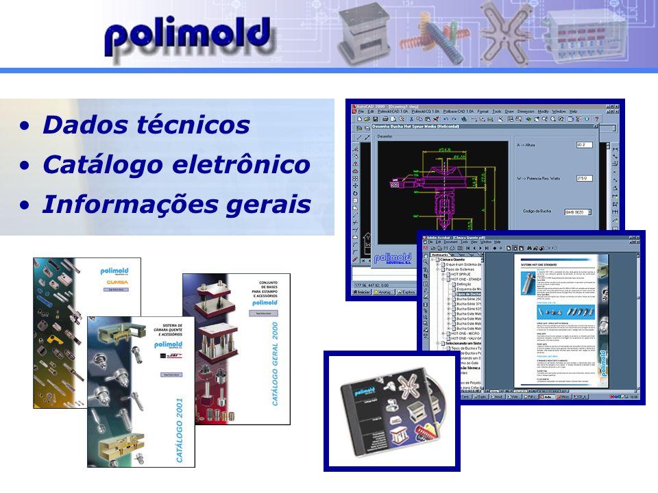 Dados técnicos Catálogo eletrônico Informações gerais