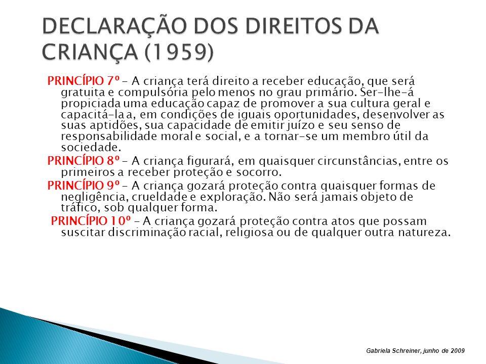 DECLARAÇÃO DOS DIREITOS DA CRIANÇA (1959)