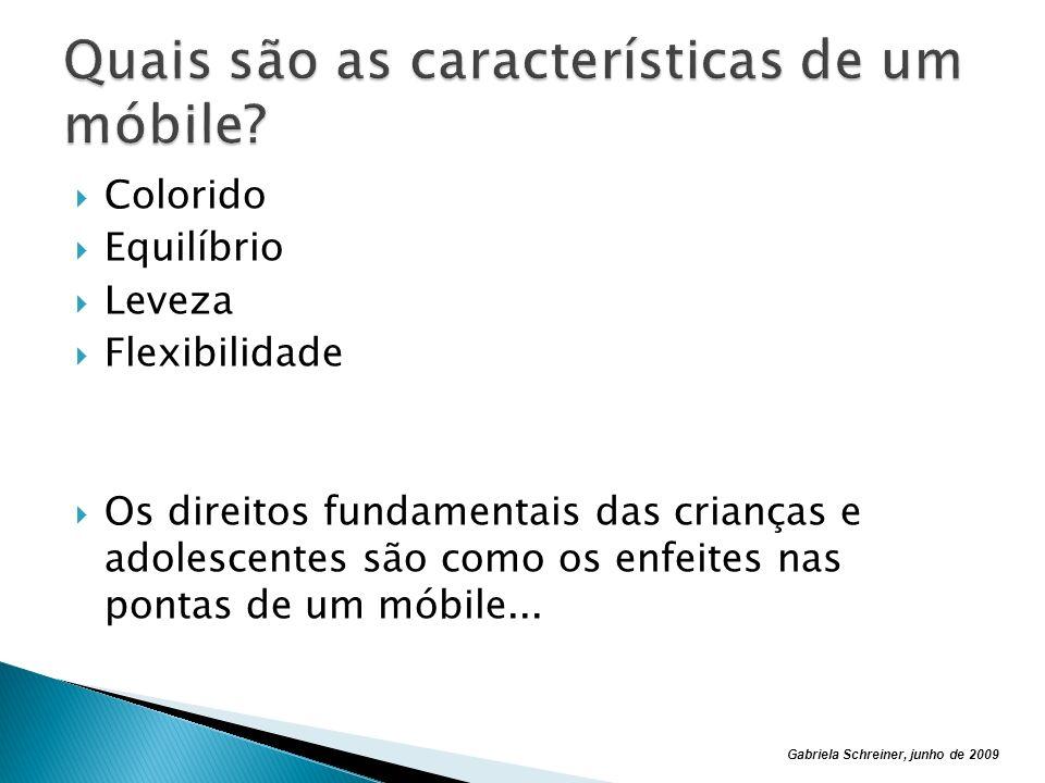 Quais são as características de um móbile
