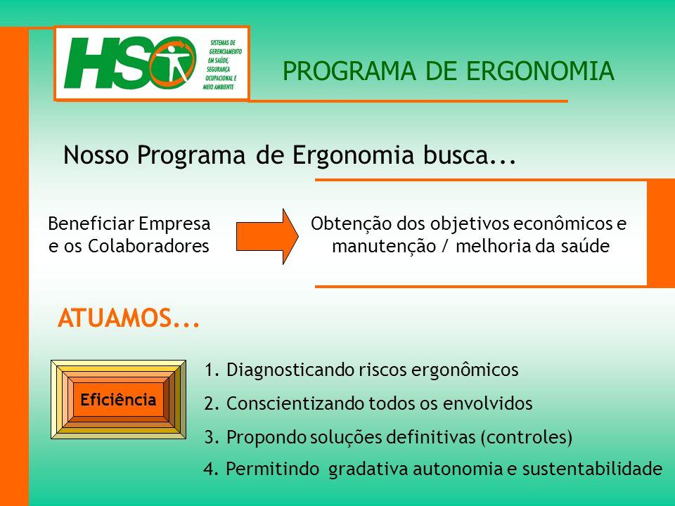 Nosso Programa de Ergonomia busca...