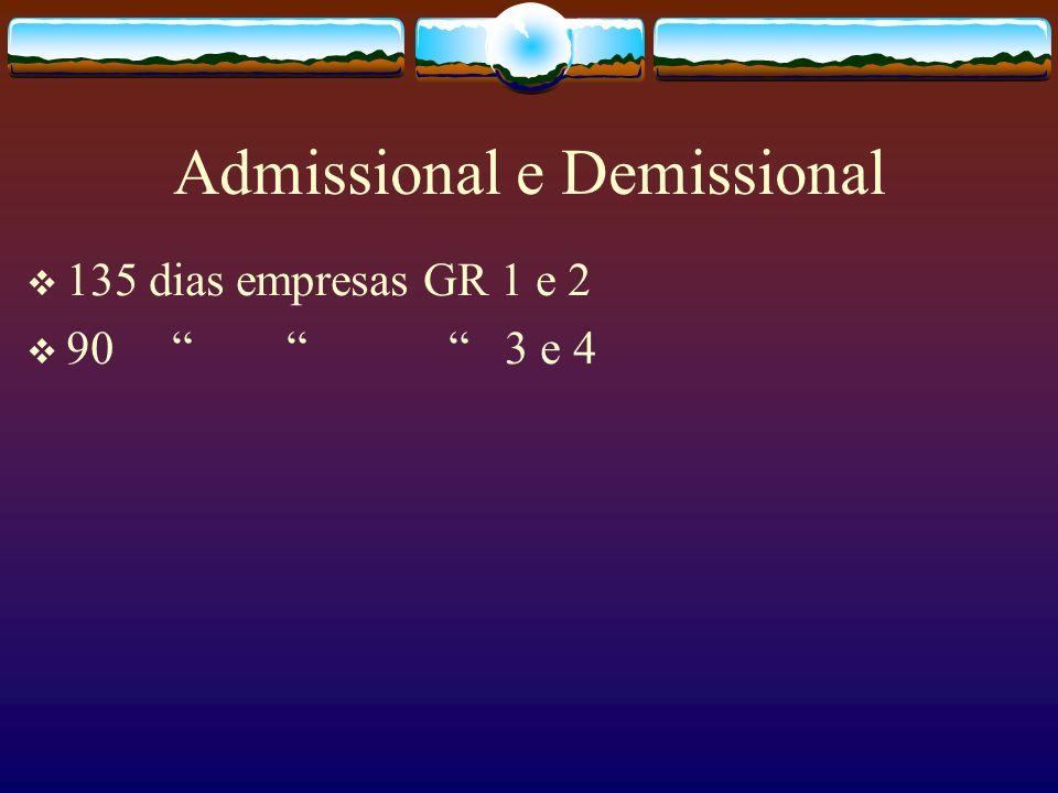 Admissional e Demissional
