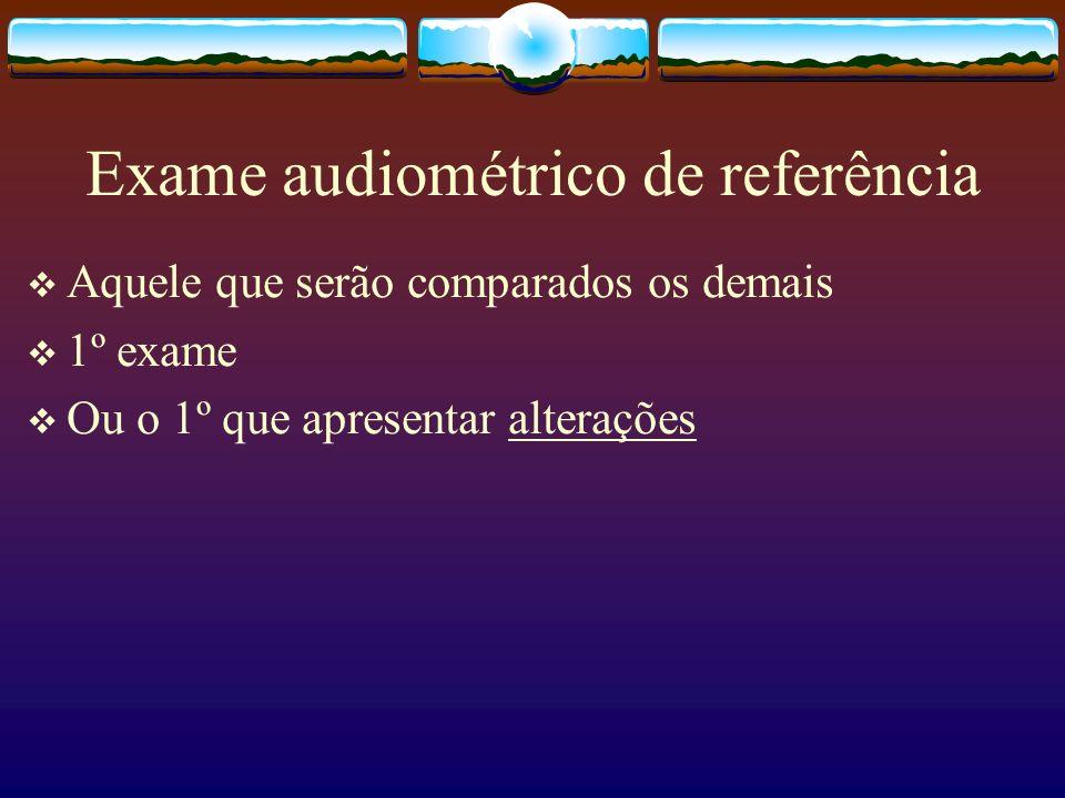 Exame audiométrico de referência