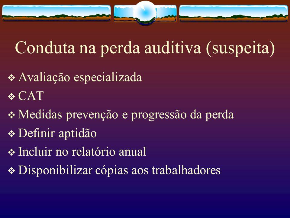 Conduta na perda auditiva (suspeita)