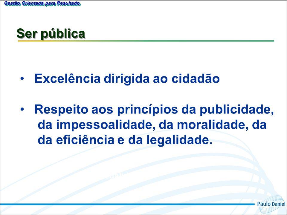 Gestão Orientada para Resultado Excelência dirigida ao Cidadão