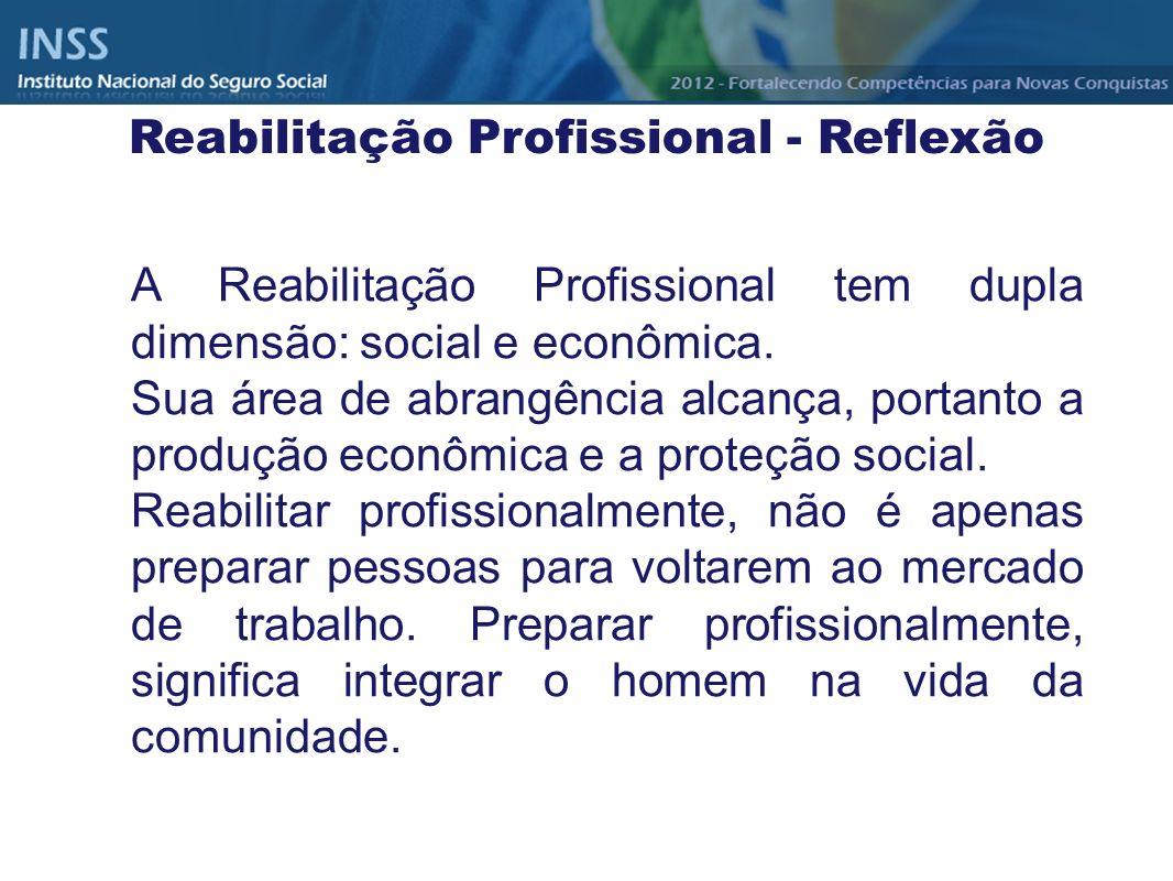 Reabilitação Profissional - Reflexão