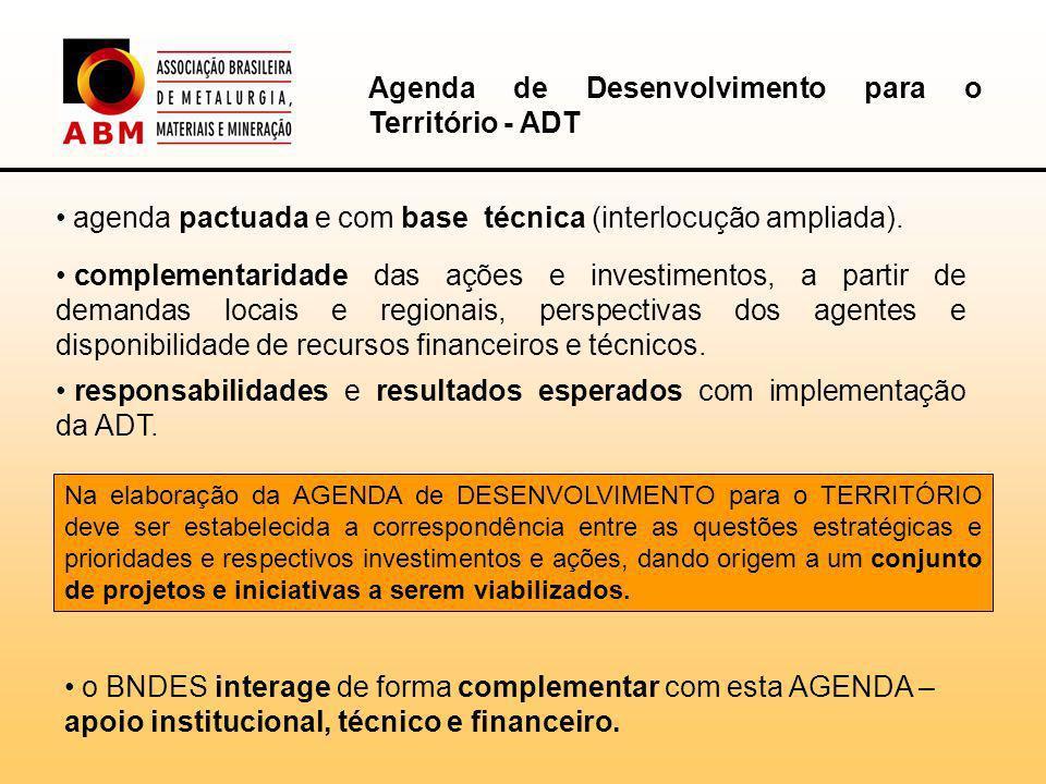 agenda pactuada e com base técnica (interlocução ampliada).