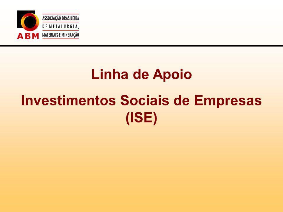 Investimentos Sociais de Empresas (ISE)
