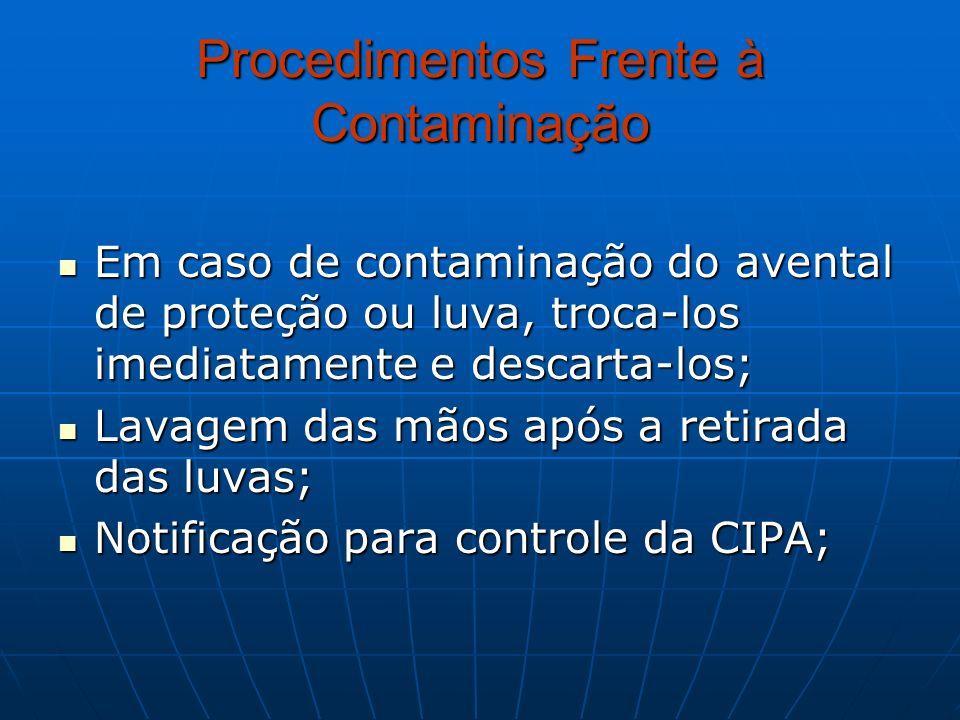 Procedimentos Frente à Contaminação