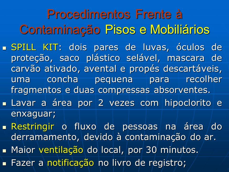 Procedimentos Frente à Contaminação Pisos e Mobiliários