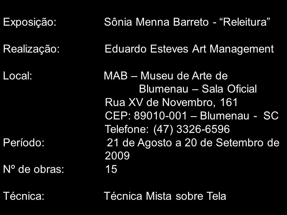 Exposição: Sônia Menna Barreto - Releitura
