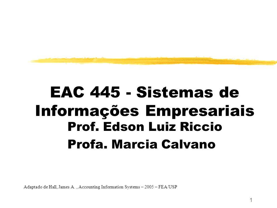 EAC 445 - Sistemas de Informações Empresariais
