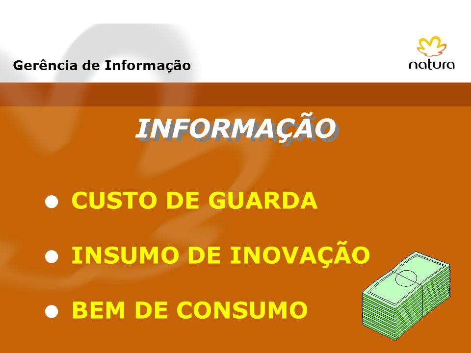 INFORMAÇÃO CUSTO DE GUARDA INSUMO DE INOVAÇÃO BEM DE CONSUMO