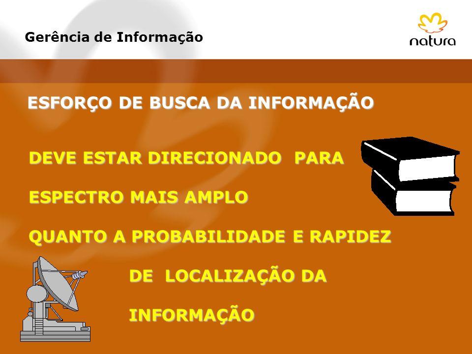 ESFORÇO DE BUSCA DA INFORMAÇÃO