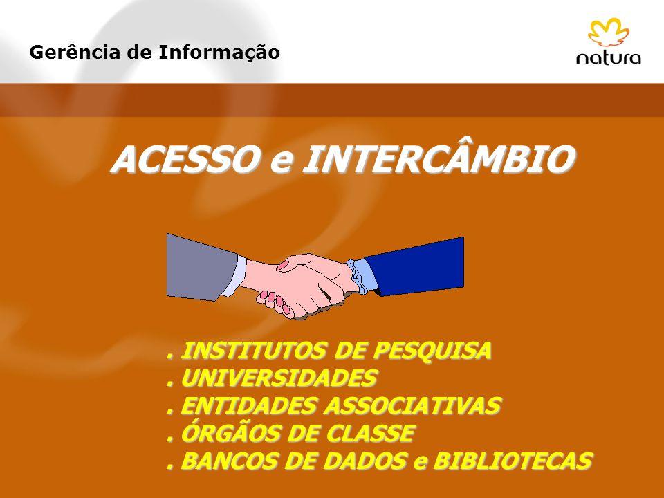 ACESSO e INTERCÂMBIO . INSTITUTOS DE PESQUISA . UNIVERSIDADES