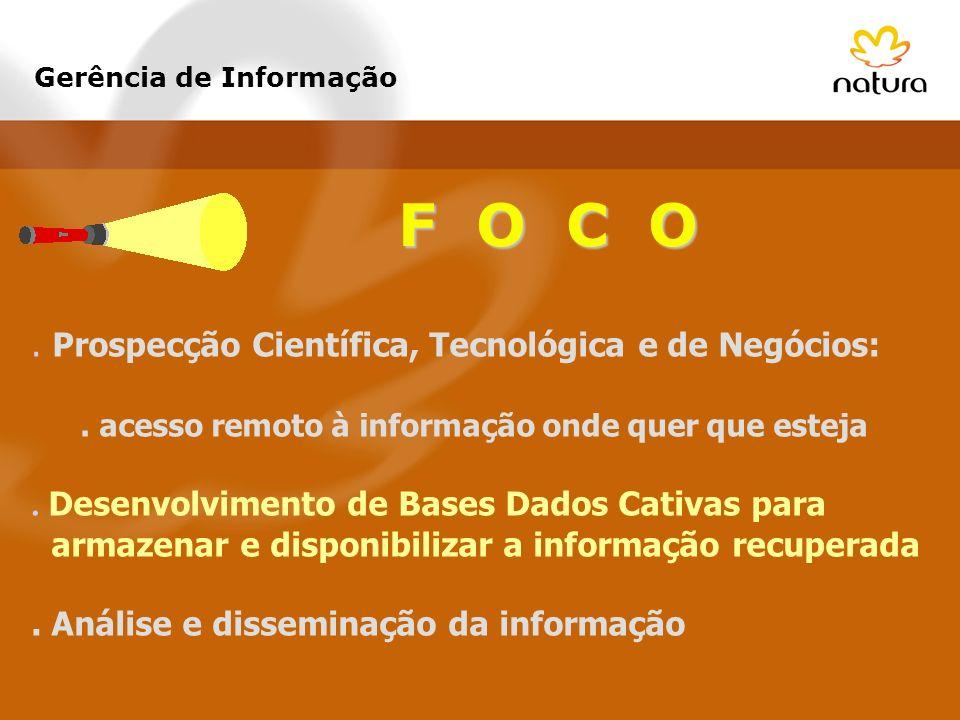 F O C O . Prospecção Científica, Tecnológica e de Negócios:
