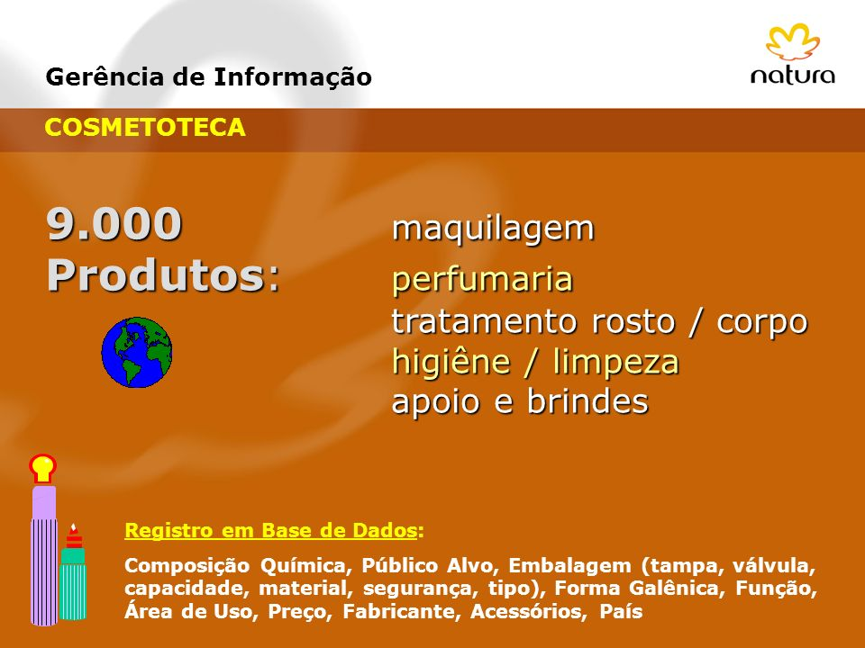 9.000 maquilagem Produtos: perfumaria tratamento rosto / corpo