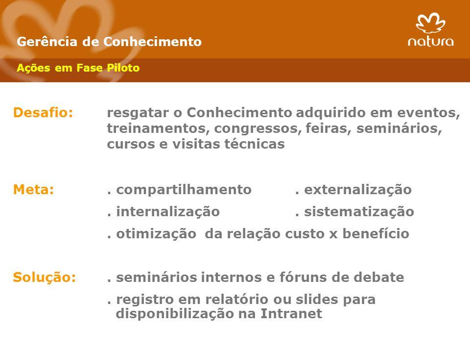 Meta: . compartilhamento . externalização