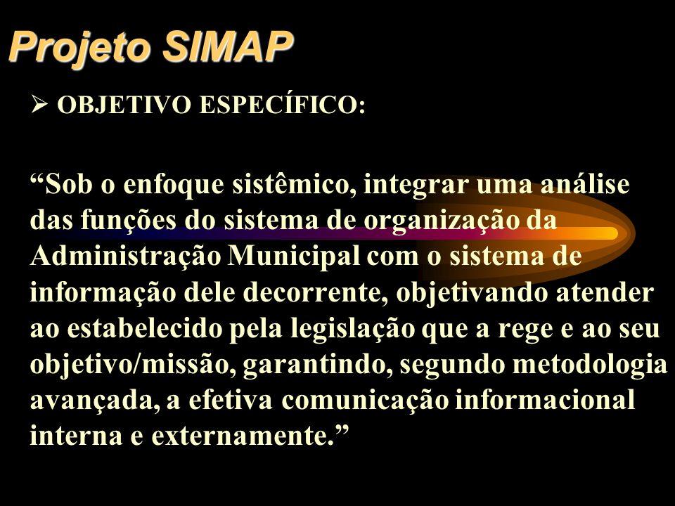 Projeto SIMAP  OBJETIVO ESPECÍFICO: